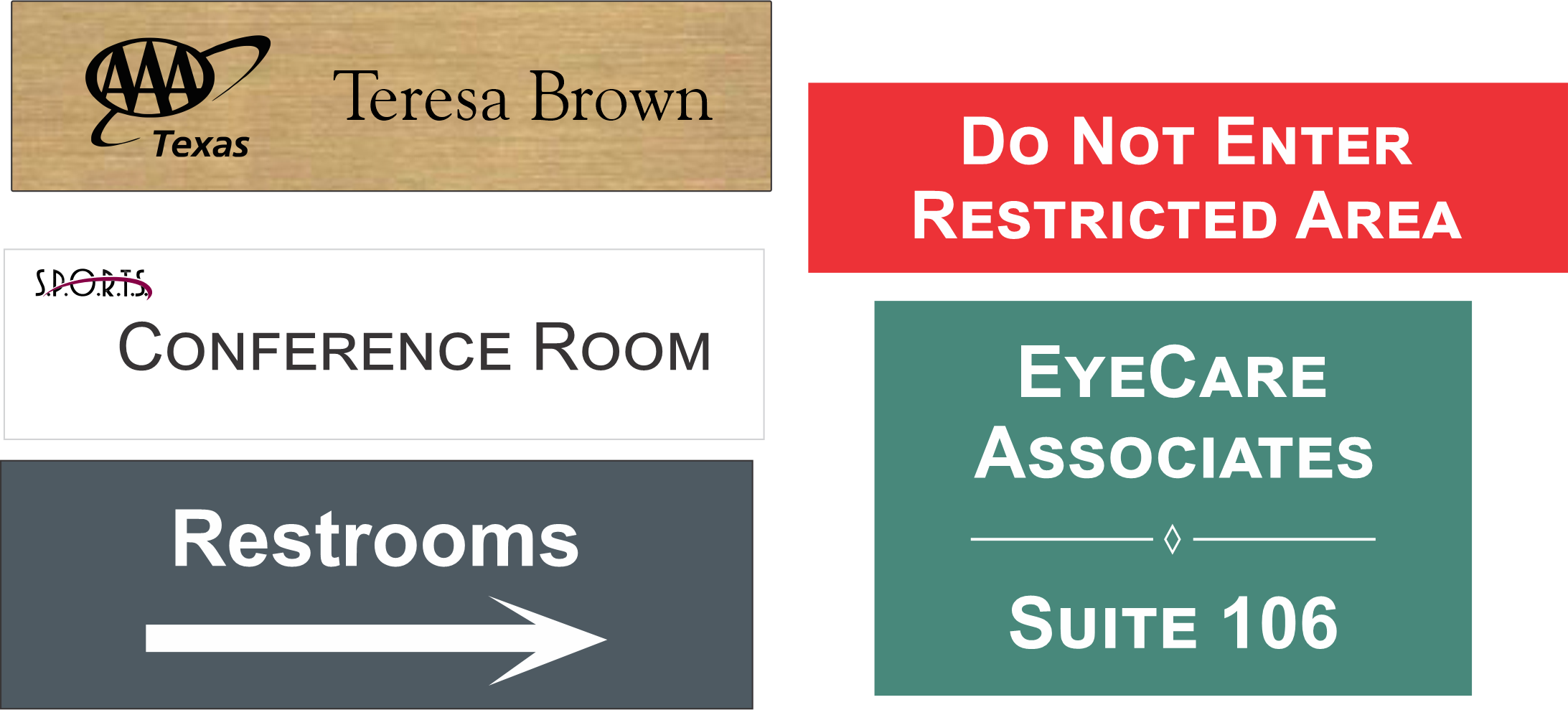 Custom Office and Facility Signs