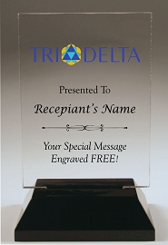 Delta Delta Delta Acrylic Rectangle Award