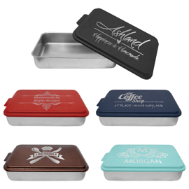 Custom Engraved Cake Pan with Lid