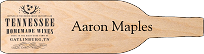 Custom Shaped Engraved Wood Name Tag