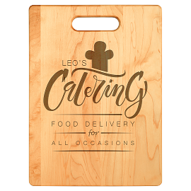 Natural Bamboo Cutting Board With Custom Engraving