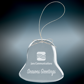 Premium Glass Bell Shaped Christmas Ornament