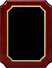 Piano Finish Rosewood Award Plaque