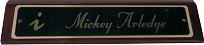 Rosewood Piano Finish Desk Name Plate