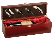 Custom Engraved Rosewood Wine Box With Tools
