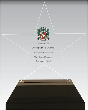 Star Shaped Alpha Gamma Delta Acrylic Award