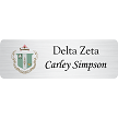 Delta Zeta membership name tag design