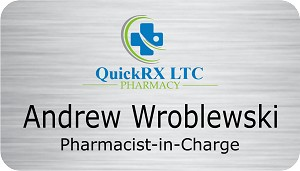"2"" x 3 1/2"" Name Tag For Pharmacy"