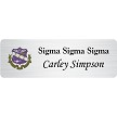 Sigma Sigma Sigma name tag with crest