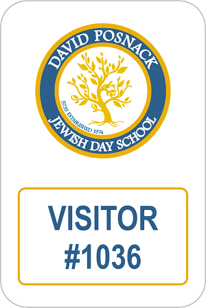 "2"" x 3 1/2"" Visitor Name Tag"