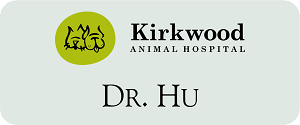 "1 1/4"" x 3"" Name Tag For Veterinary Office"